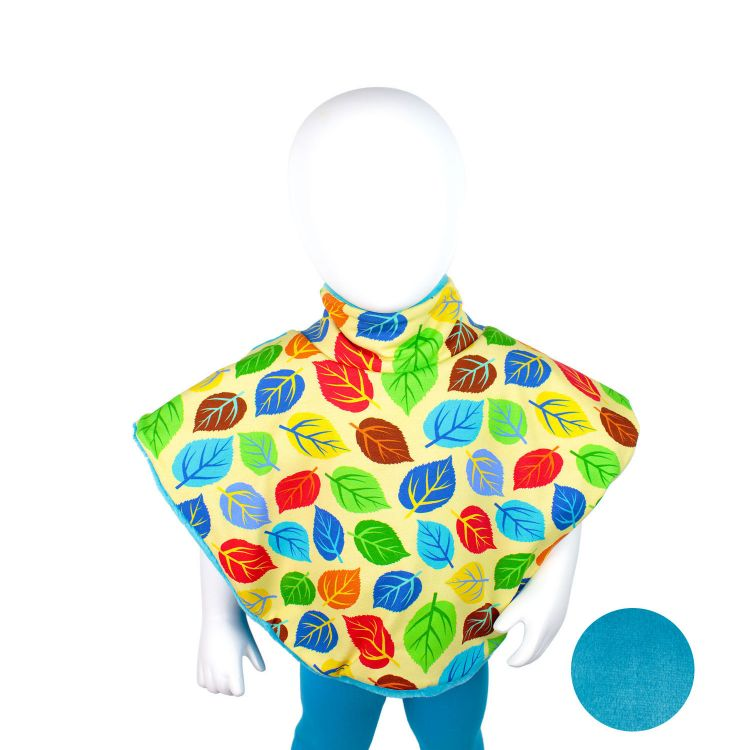 Poncho ColorfulLeaves-Blue