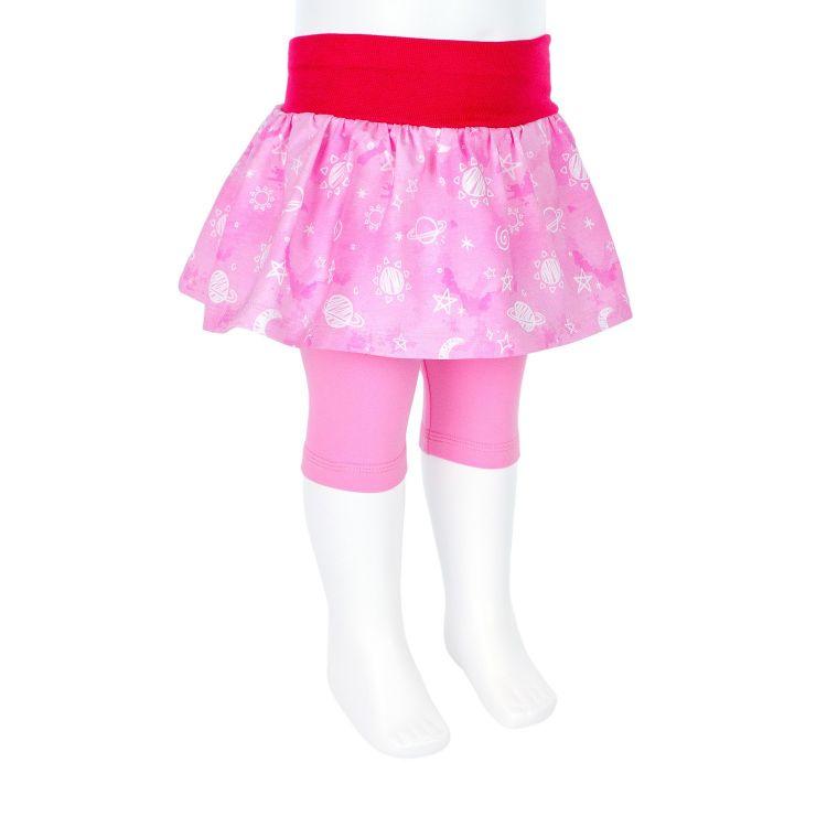 Baby-SkinnyPantsRöckchen kurz - DreamyGalaxy-Pink
