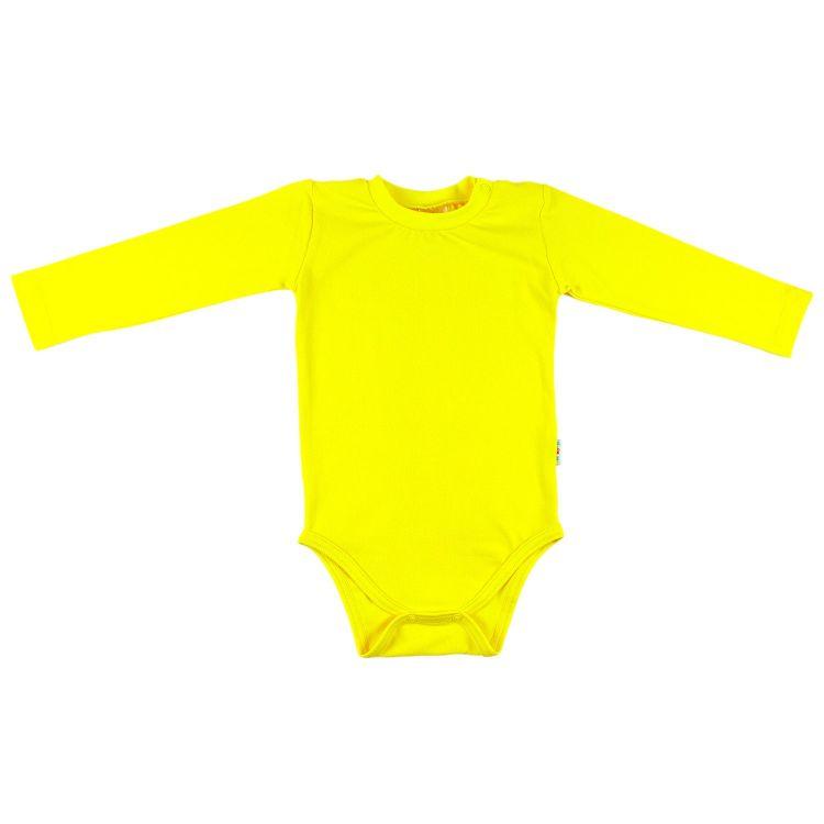 Baby-Uni-Langarmbody - Zitrone