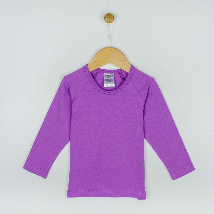 Kids-Uni-Langarm-Raglanshirt - Lavendel