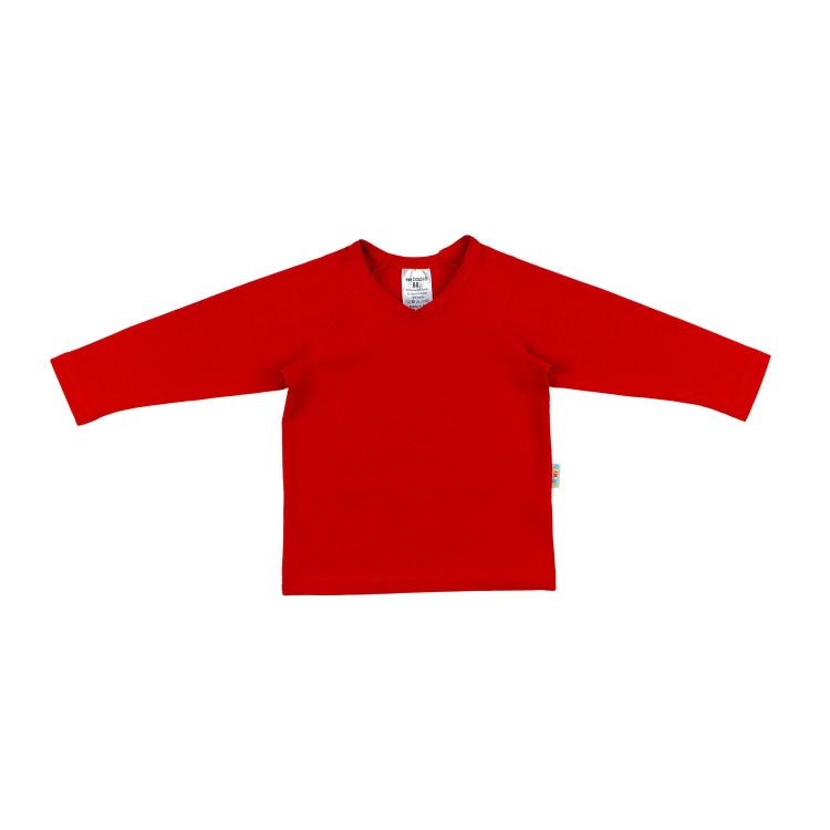 Uni-Langarm-Raglanshirt Rot