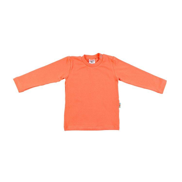 Uni-Langarmshirt Pfirsich