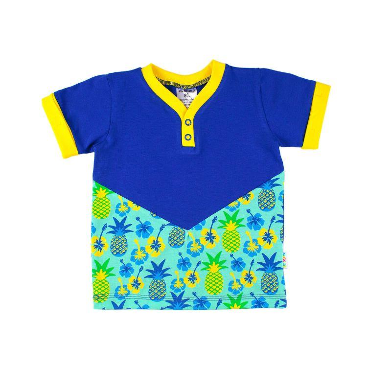 V-NeckShirt TropicalPineapple-Blue