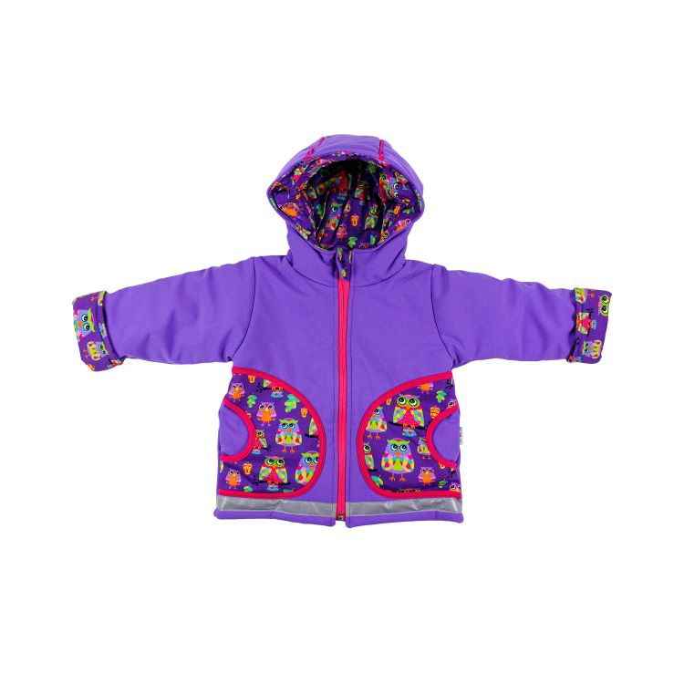 Winter-Softshelljacke ColorfulHoots-Purple