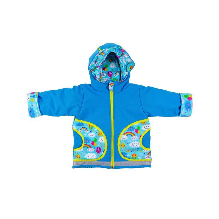 Winter-Softshelljacke RainbowsAndClouds-Blue