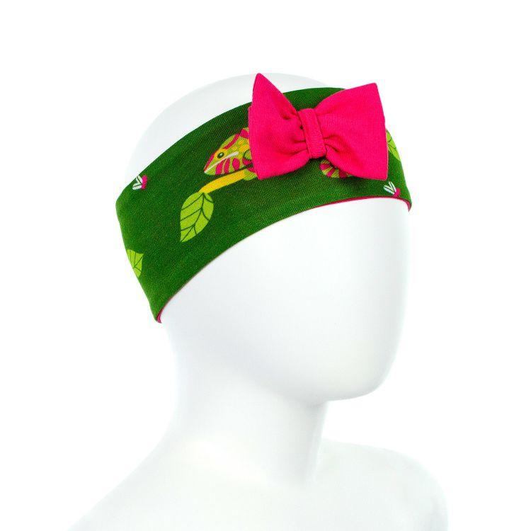 Babau-Bow ChameleonsOnTwigs-Green