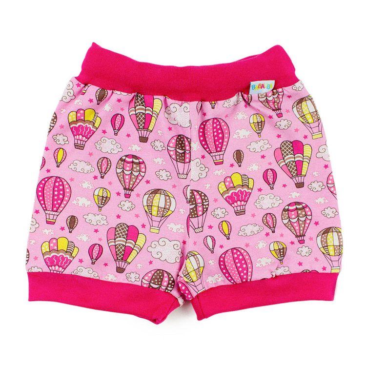 BasicShorts MontgolfiereBalloons-Pink