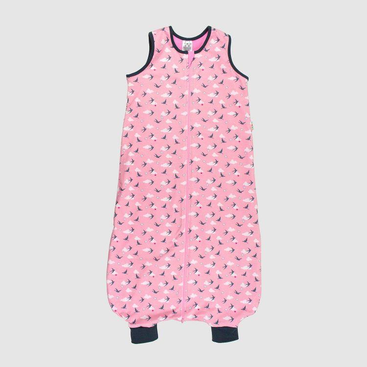 Kids-Füßchenschlafsack - LovelySwallows-Pink