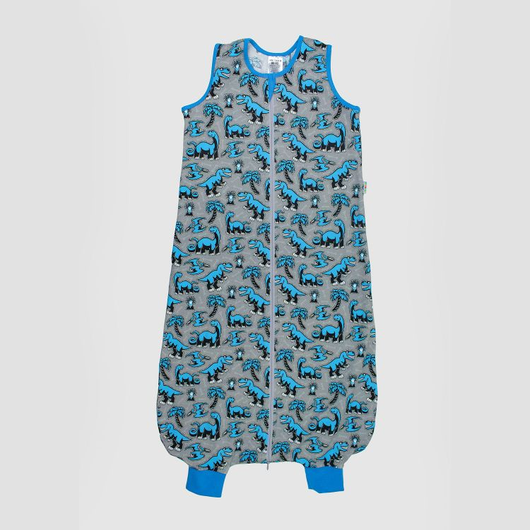 Kids-Füßchenschlafsack einlagig - Dinos-Bluegrey