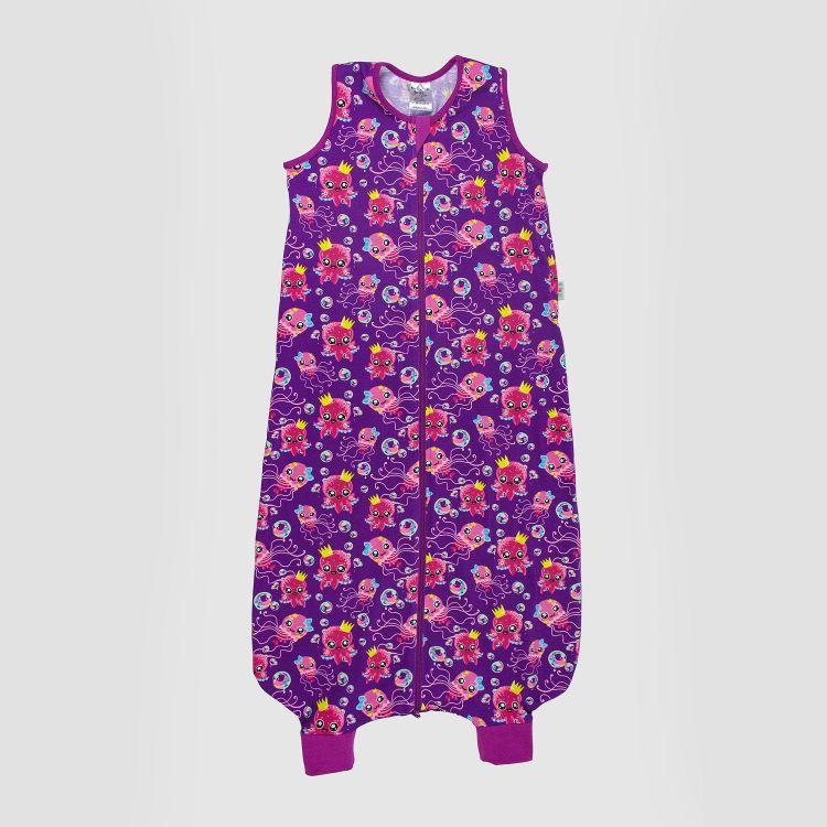 Kids-Füßchenschlafsack einlagig - SweetOctopus-Purple