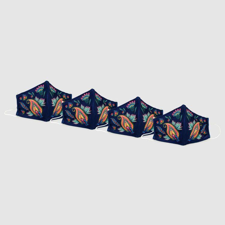 4er Set Masken für Erwachsene - RoyalFlowers