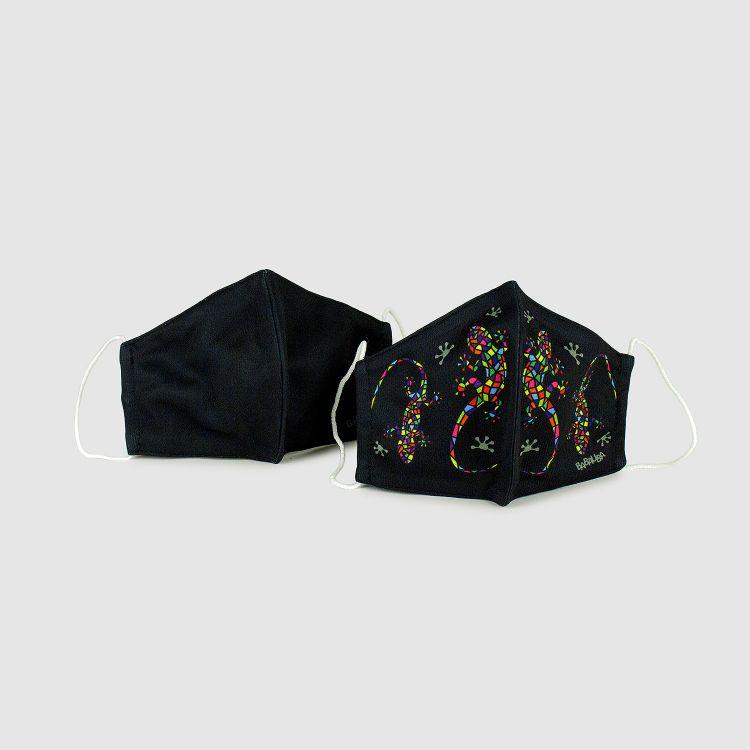 2er Set Masken für Erwachsene - Schwarz/DiamantSalamander