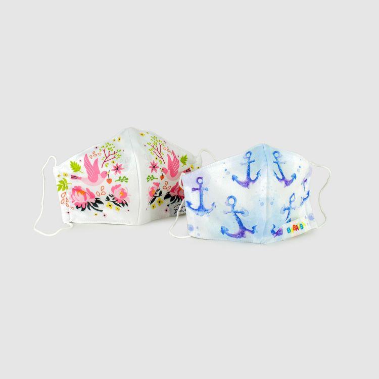 2er Set Masken für Erwachsene - DreamyAnchors/PeaceAndSpring