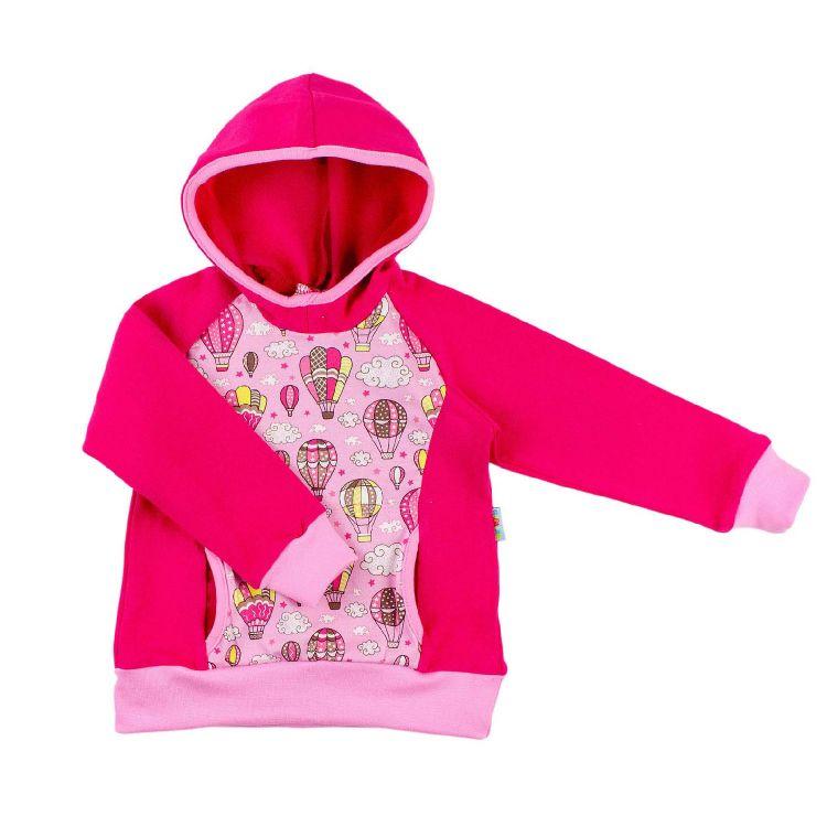 Kids-Hoodie-Shirt - MontgolfiereBalloons-Pink