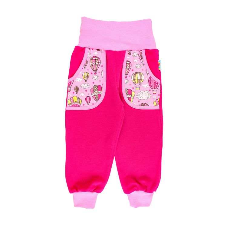 Kids-Jersey-CoolPocketPants - MontgolfiereBalloons-Pink