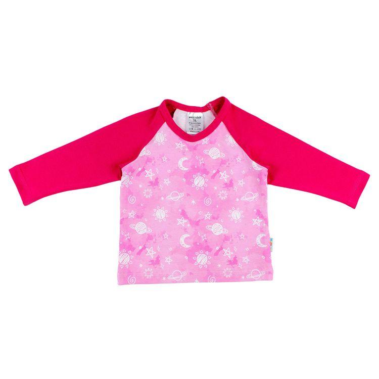 Langarm-Raglanshirt DreamyGalaxy-Pink
