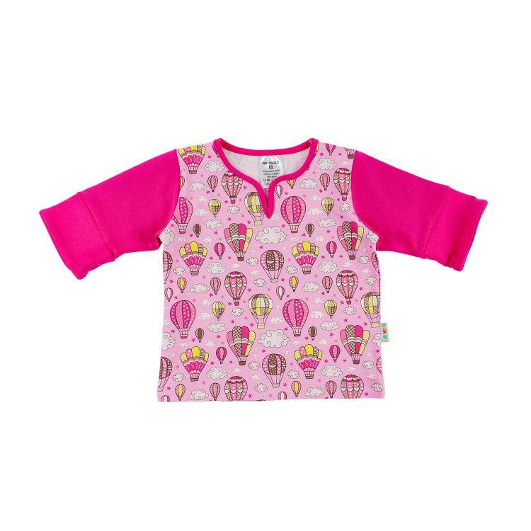 Kids-LovelyGirlShirt - MontgolfiereBalloons-Pink