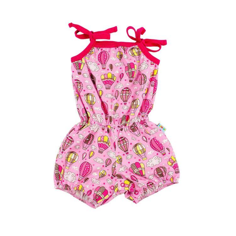 Mädchen-Jumpsuits MontgolfiereBalloons-Pink