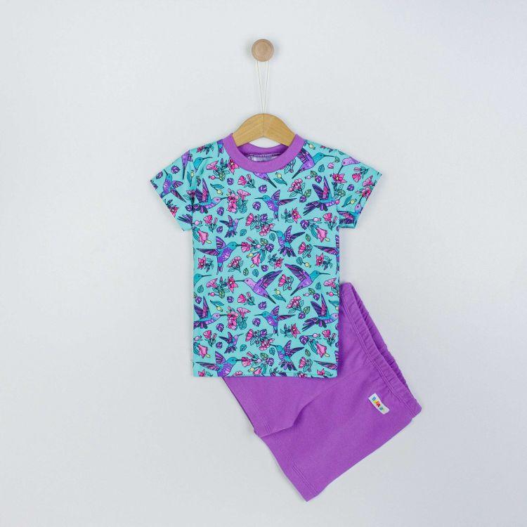 Pyjama-Set-Shortstyle Hummingbirds-Blue