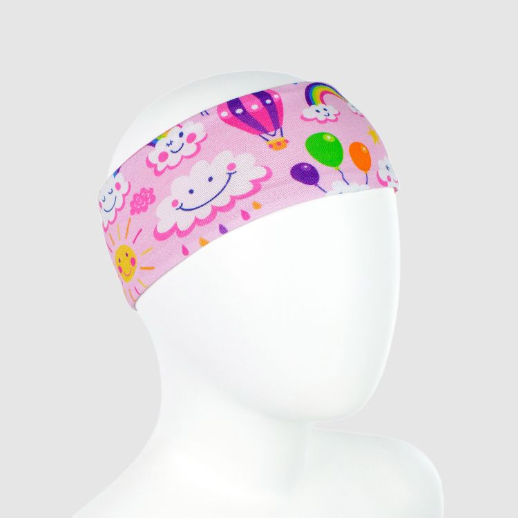 Stirnband RainbowsAndClouds-Pink