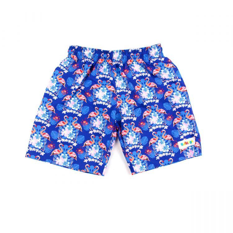 Swimshorts ColorfulFlamingos-Blue