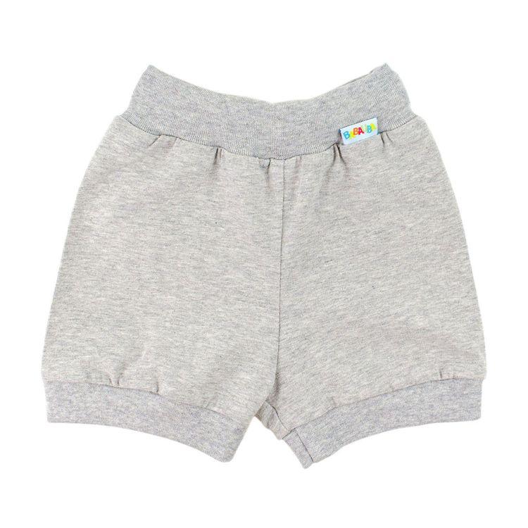 Kids-Uni-BasicShorts - Grau-Meliert