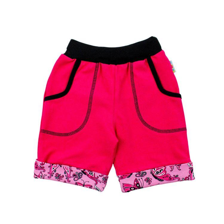 Uni-CoolPocketShorts PrettyButterflies-PinkAndBlack