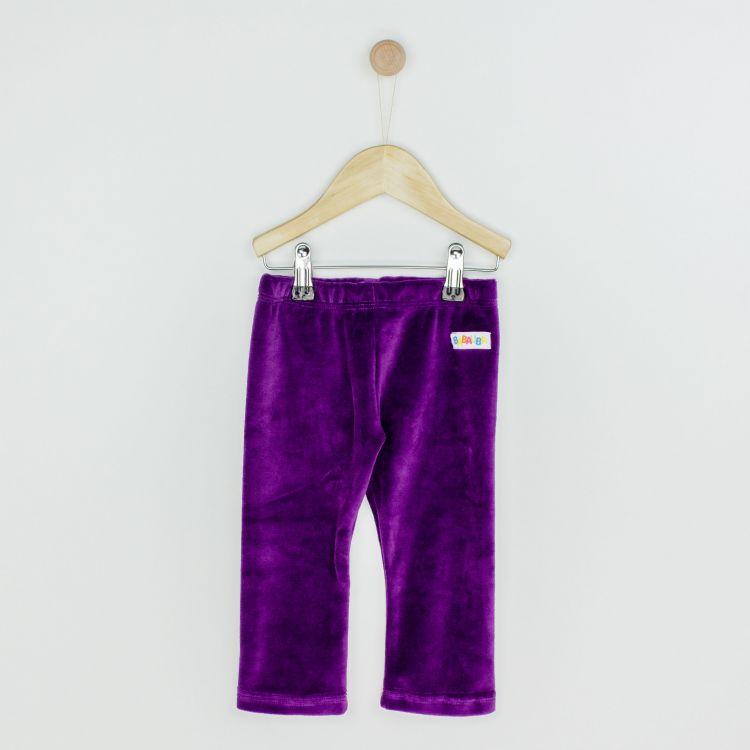 Velours-Uni-SkinnyPants Lila