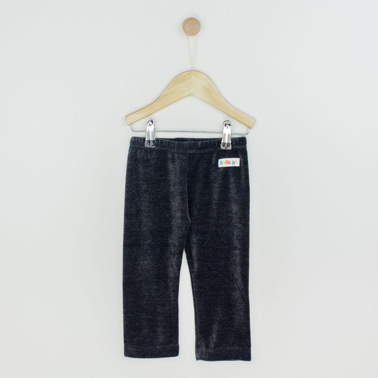 Kids-Velours-Uni-SkinnyPants - Dunkelgrau