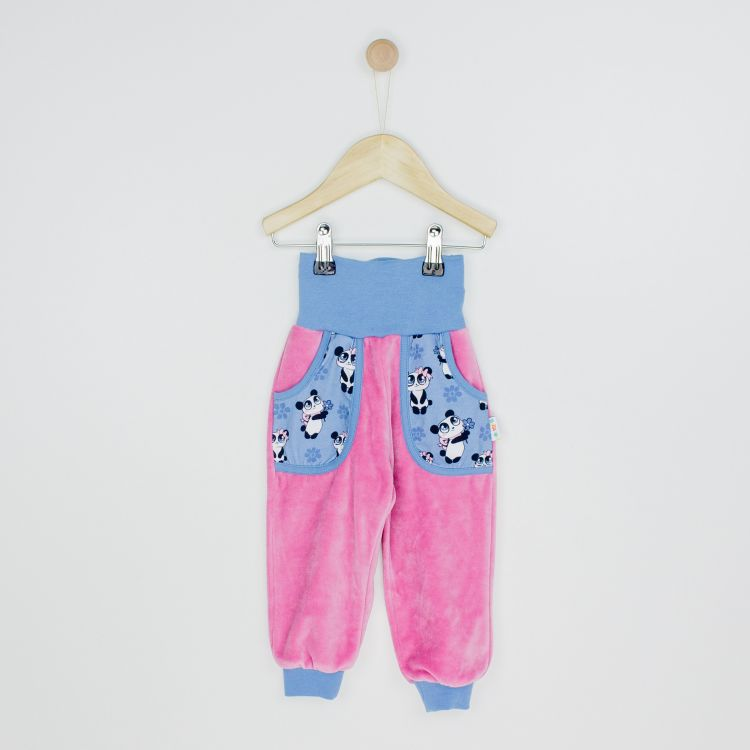 Kids-Velours-CoolPocketPants - GirlyPanda-Grey