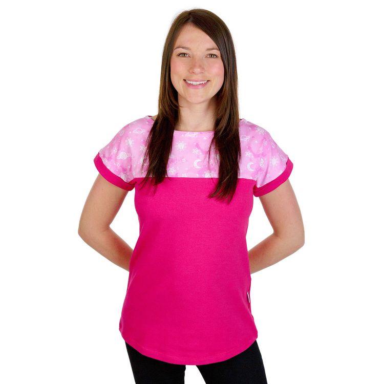 CasualWomanShirt DreamyGalaxy-Pink