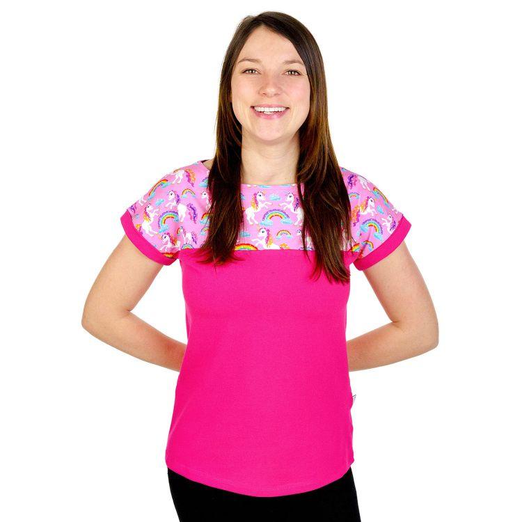 CasualWomanShirt SparklingUnicorns-CyklameEdition