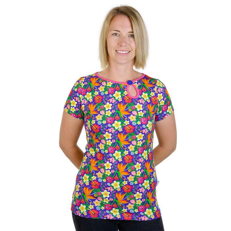 PrettyWomanShirt-Kurzarm HawaiiFlowers
