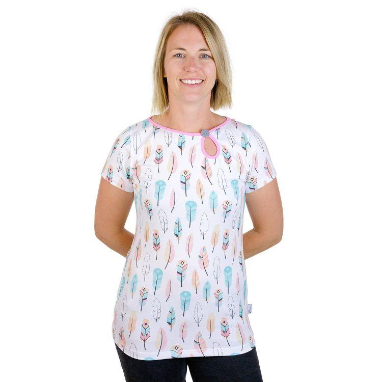 PrettyWomanShirt-Kurzarm PastellFeathers