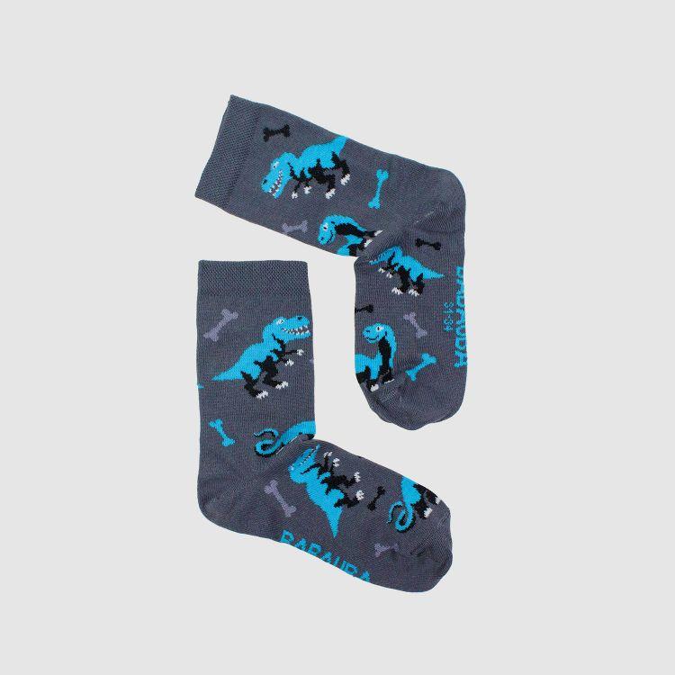 SockiSocks - Dinos-Bluegrey