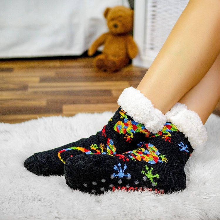 SuperFlauschi-SockiSocks - DiamantSalamander-Black