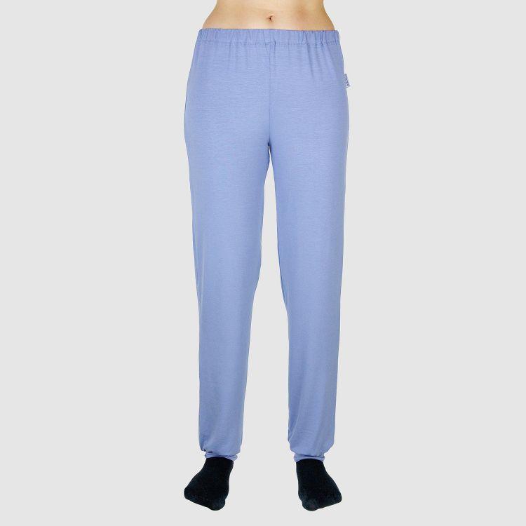 Viskose-Woman-Schlafhose Azurblau