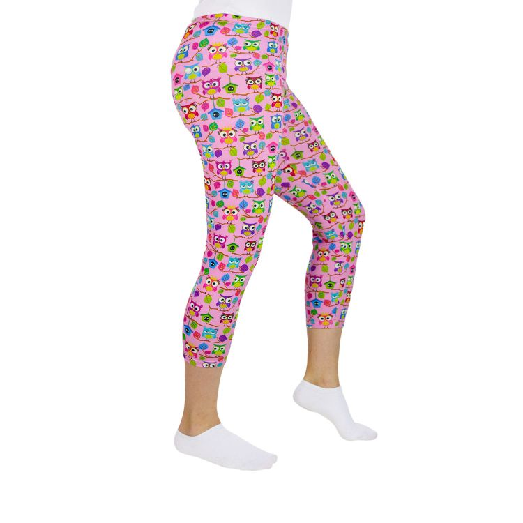 Woman-Capri-SkinnyPants BabaubaHoots-Pink