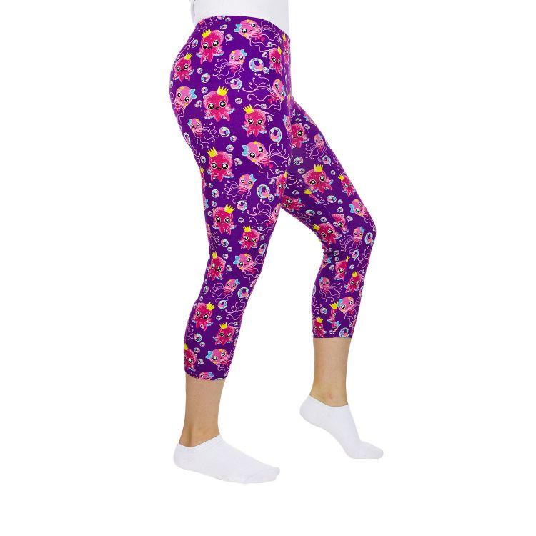 Woman-Capri-SkinnyPants SweetOctopus-Purple