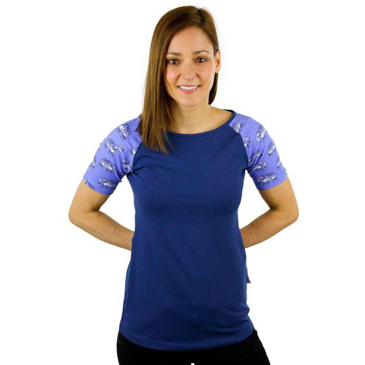 Woman-Raglanshirt kurzarm MosaicElephants