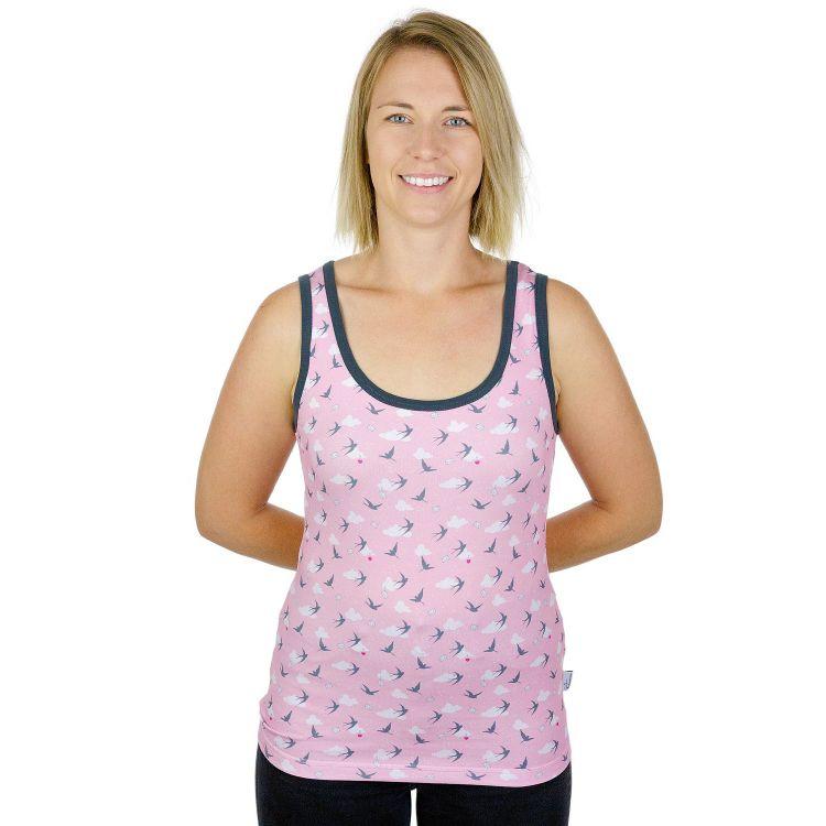 Woman-Tanktop LovelySwallows-Pink