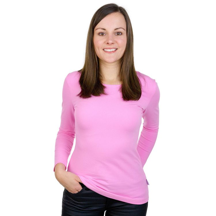 Woman-Uni-Langarmshirt Babyrosa