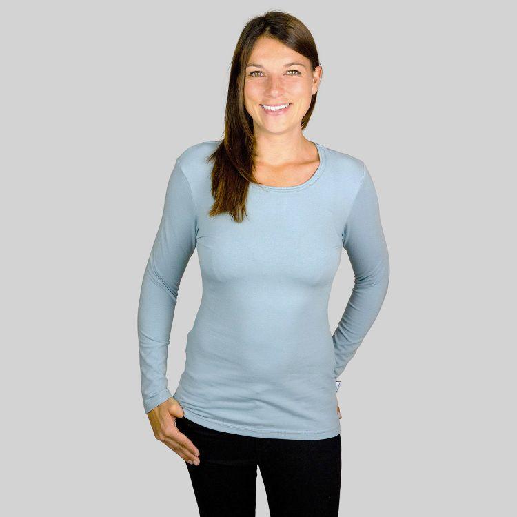 Woman-Uni-Langarmshirt Grau