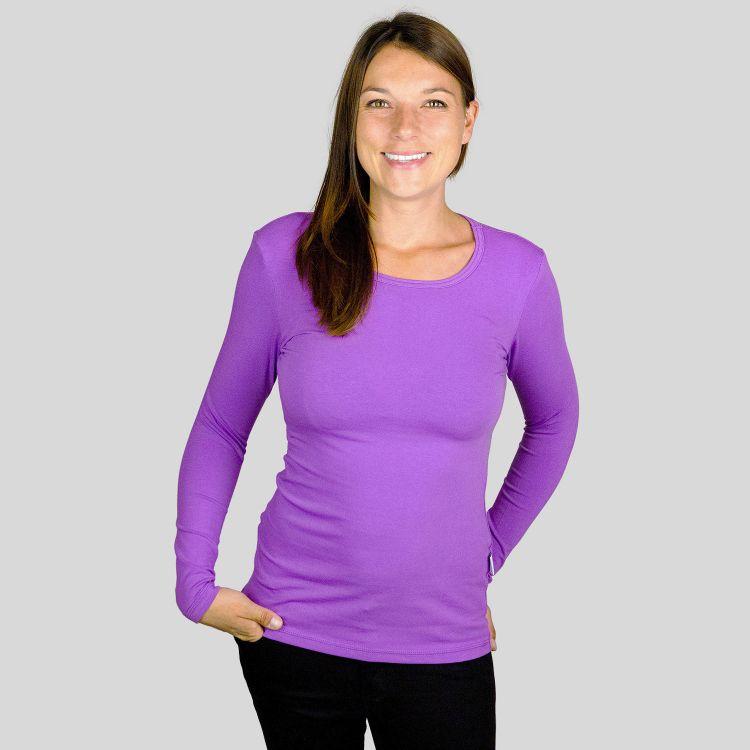 Woman-Uni-Langarmshirt Lavendel