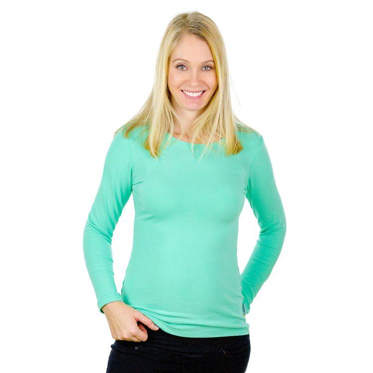 Woman-Uni-Langarmshirt Minze