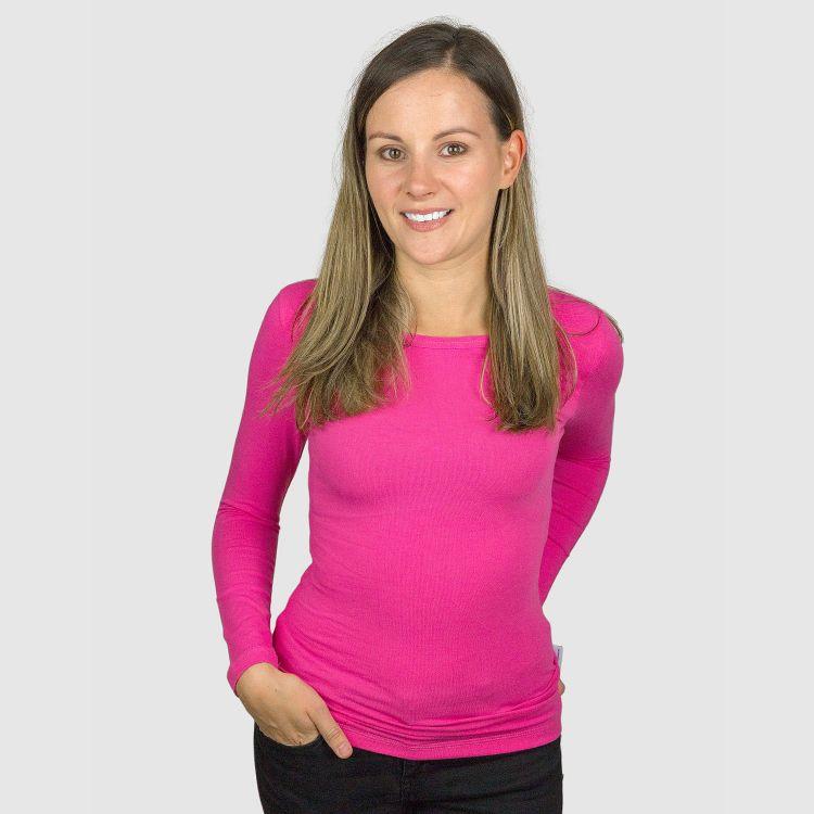 Woman-Uni-Langarmshirt Rosa