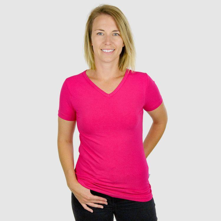 Woman-V-NeckShirt Uni Cyklame