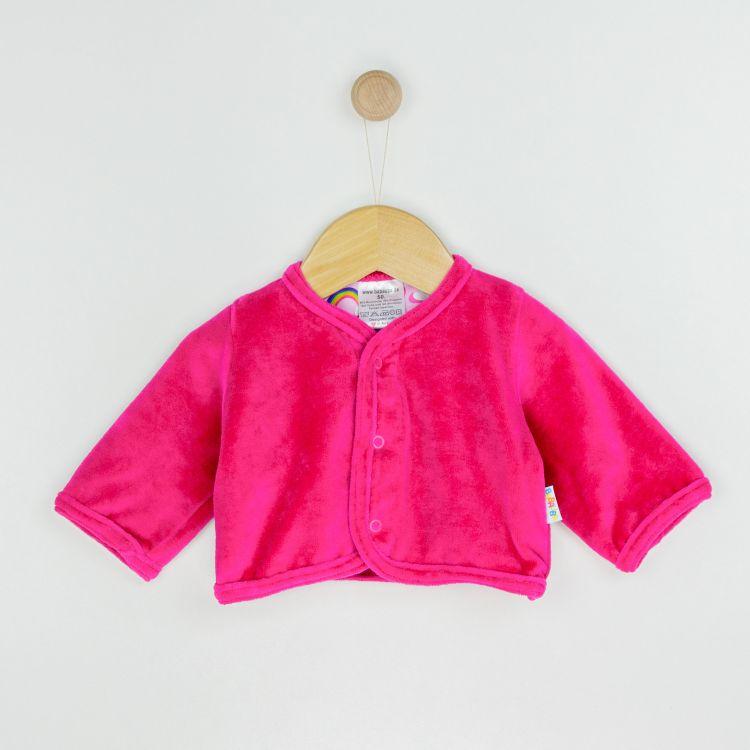 Velours-Cardigan RainbowsAndClouds-Pink