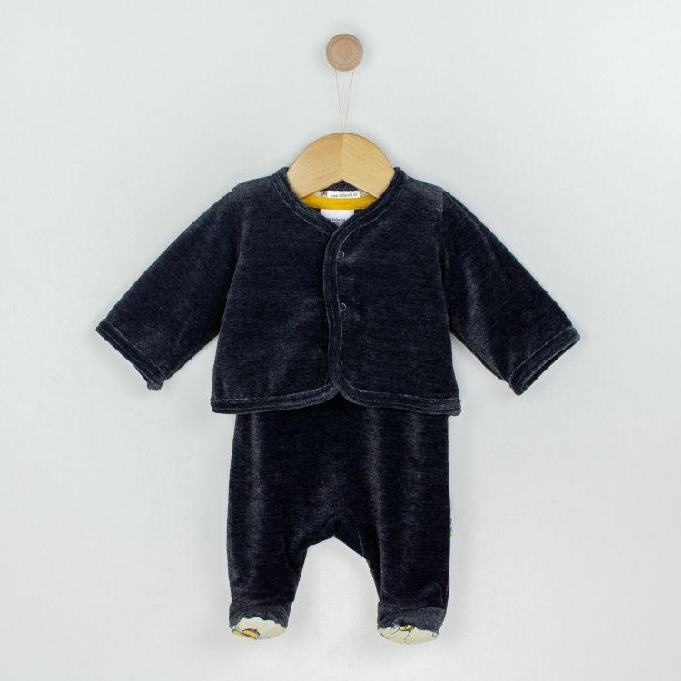 Baby-Velours-Erstlingsset - BabyBees