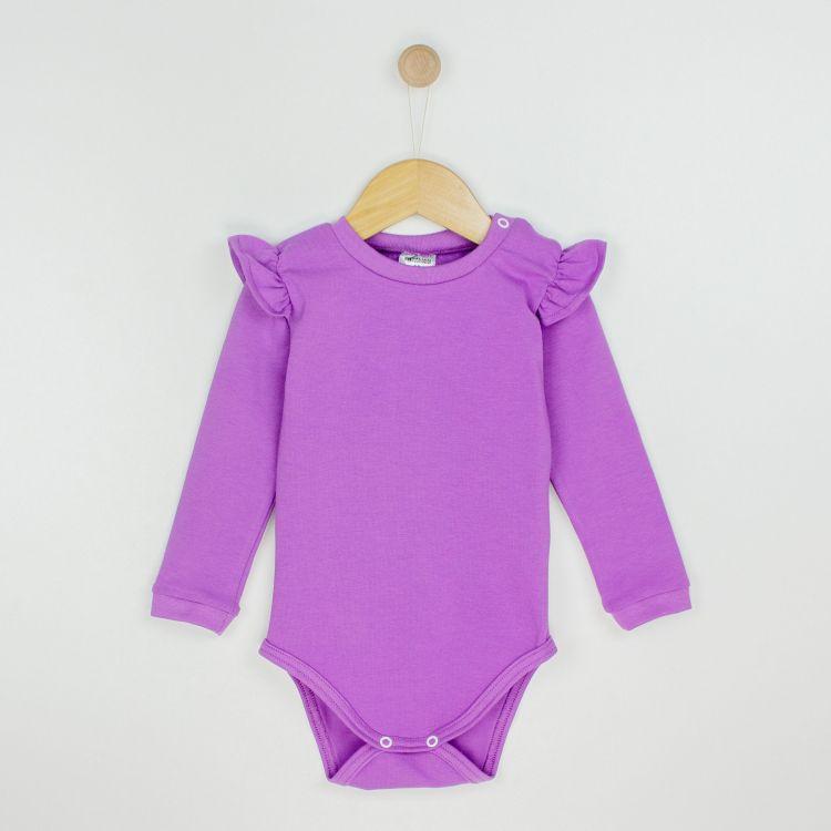 Baby-Uni-Volantbody - Lavendel